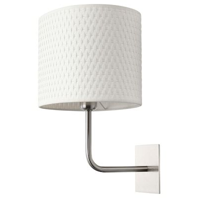 Arstid Lampara De Pared Niquelado Blanco Ikea In 2020 Wandlampe Lampe Wandleuchte