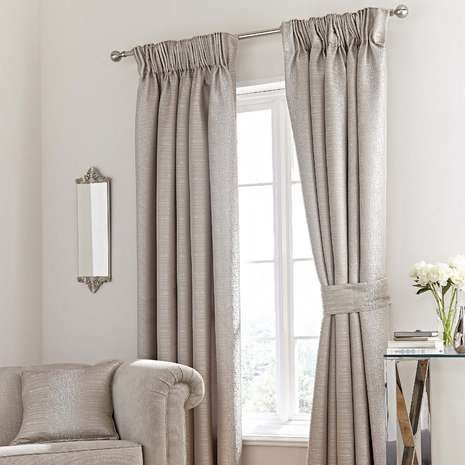 "NEW JACQUARD EYELET RING TOP HEAVY CURTAINS FULLY LINED BETTY DARK GREY 90/""x90/"""