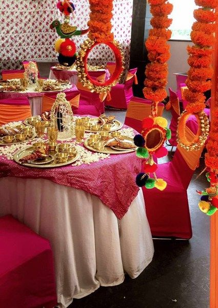 Image result for mehndi guests table decorations