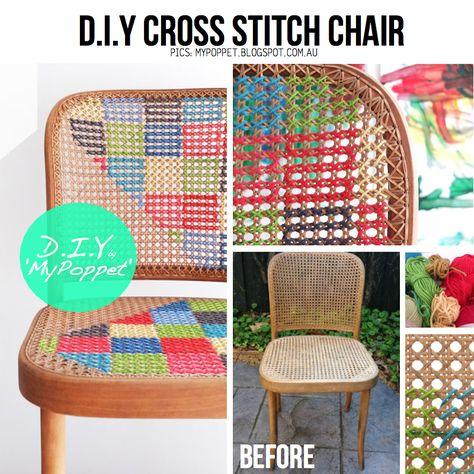 Idea semplice e colorata per #modificare le vostre #sedie