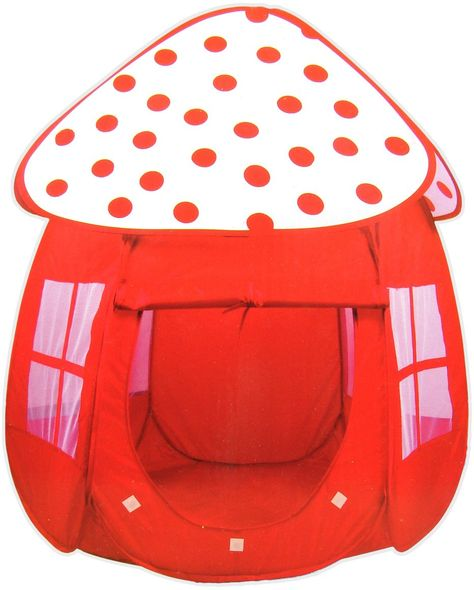 Rotes Zelt mit Pünktchen / Bällebad: Amazon.de: Spielzeug