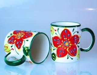 Kaffeetasse Kaffeepott Flor Verde Keramik Fruhstucksgeschirr Keramik Geschirr