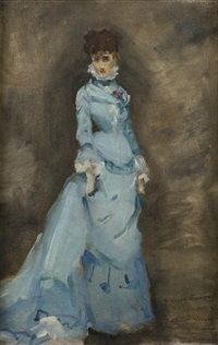 Louise Abbéma (French, 1853 - Portrait of Sarah Bernhardt (via The Athenaeum)