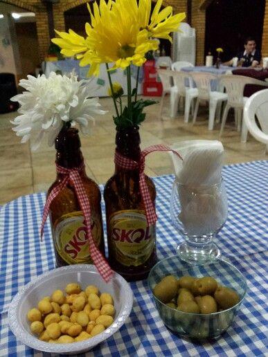 Festa boteco, centro de mesa