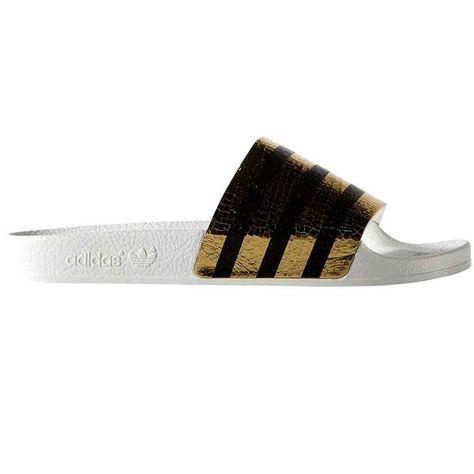 89491b6dcf8ec ADIDAS ORIGINALS Adilette Striped Terry And Rubber Slides.  adidasoriginals   shoes  sandals