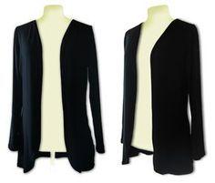 Kostenloses Schnittmuster Jersey Jacke, Shirtjacke