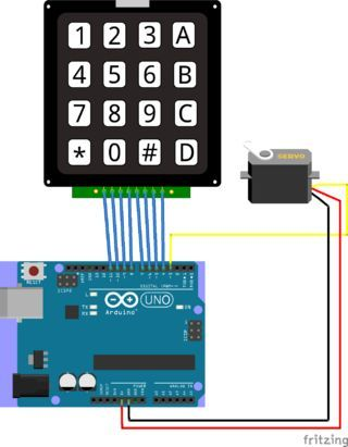 Arduino - Keypad-Controlled Servo | arduino | Techno