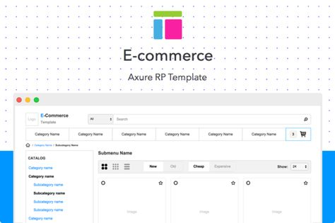 Axure template \/ E-commerce by Axemplate on Creative Market - vertical storyboard sample