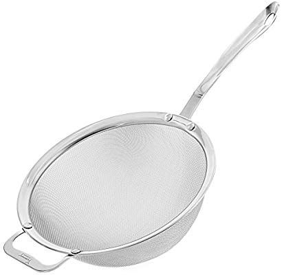Amazon Com 9 Kitchen Fine Mesh Strainer With Sturdy Handle And