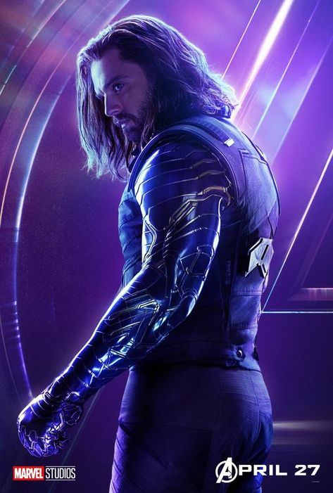 Avengers: Infinity War Bucky Winter Soldier character original poster Marvel comic movie quality print