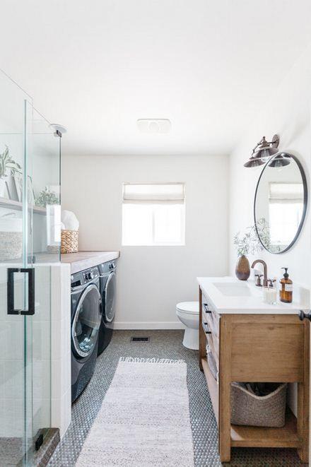Laundry Room Ideas On Bathroom Bathroom Inspiration In 2020 Laundry Room Bathroom Laundry Bathroom Combo Laundry In Bathroom