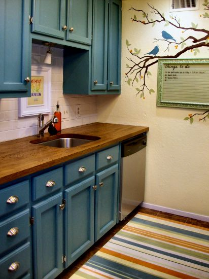 How To Decorate Series Day 8 Room Design Plan By Addicted 2 Decorating Turquoise Kitchen Cabinets Teal Kitchen Cabinets Teal Kitchen