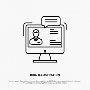 Chat Business Consulting Dialog Meeting Online Line Icon Ve Line Icons Background Business Png And Vector With Transparent Background For Free Download Line Icon Met Online Consulting Business