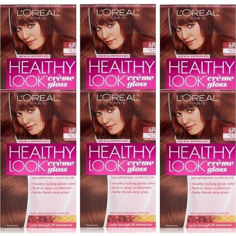 L'Oreal Paris Healthy Look Spiced Praline Creme Gloss Pack of 6 Color