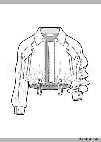 OUTER Fashion technical drawings flat Sketches vector template # Fashion drawing OUTER Fashion technical drawings flat Sketches vector template - Buy this stock vector and explore similar vectors at Adobe Stock