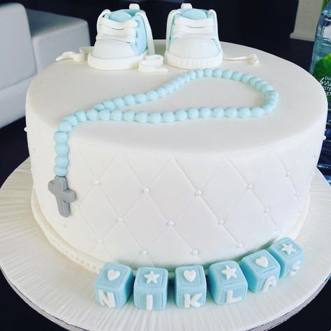 Bildergebnis Für Torte Zur Taufe Junge Taufe Kuchen