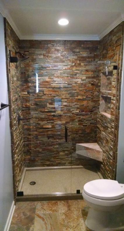 40 Best Ideas Bathroom Remodel Diy Showers River Rocks Small Remodel Diy Bathroom Remodel Bathroom Remodel Small Shower