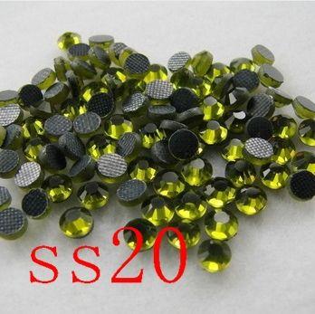 DMC Hot fix Rhinestones 1440pcs/bag SS20 olivine Iron-on Machine Cut Transfer HotFix Stones For Clothing Fashion DIY
