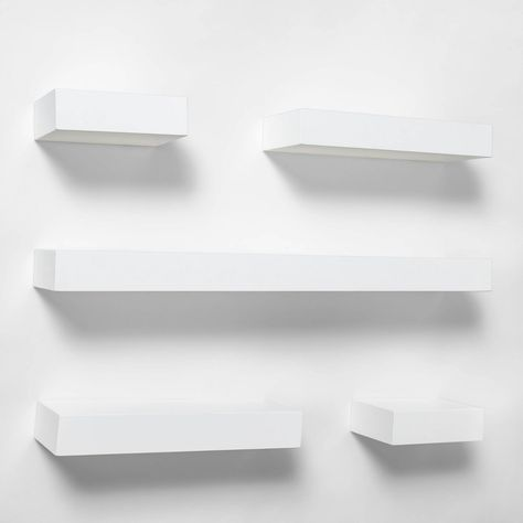 Project 62 : Home Decor : Target White Wall Shelves, Floating Shelves Bedroom, White Floating Shelves, Ikea Shelves Bedroom, Room Ideas Bedroom, Small Room Bedroom, Bedroom Decor, Bedroom Furniture, Ikea Lack Shelves
