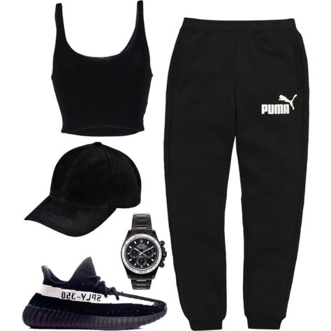 A fashion look from December 2016 featuring Roque tops, Puma activewear pants e adidas sneakers. Browse and shop related looks.
