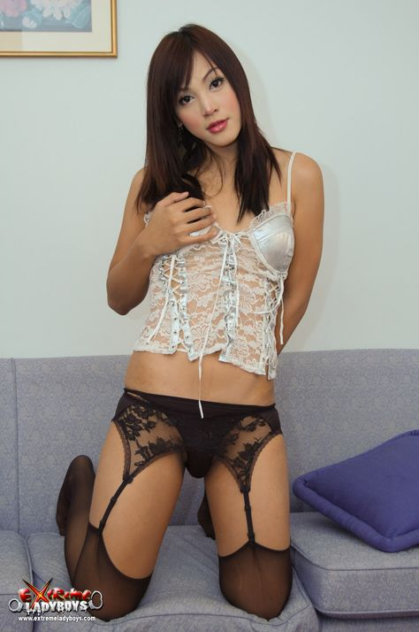 Amazing ladyboy Aum heavily at Asian Tranny