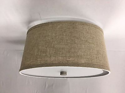 Nickel Rv 12 Volt 13 1 2 Oval Dinette Ceiling Light Texture Burlap Drum Shade 45 95 With Images Metal Ceiling Drum Shade Shade Cover