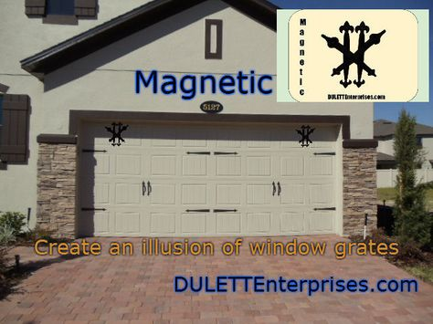 Magnetic Garage Door Decorative Hardware Kit Carriage House Faux Window Grill Garage Doors Garage Door Decorative Hardware Garage Door Hardware