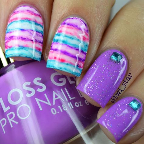 Finding the Best Nail Designs is our speciality. We are big fans of nail art here at Best Nail Art and we wanted to create a neat little list that shows off some of our best findings. Fancy Nails, Diy Nails, Cute Nails, Pretty Nails, Gel Manicure, Sharpie Nail Art, Water Color Nails, Cute Summer Nails, Summer Toenails