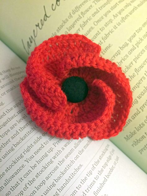 leasowes view: Crochet Remembrance Poppy | The Art of