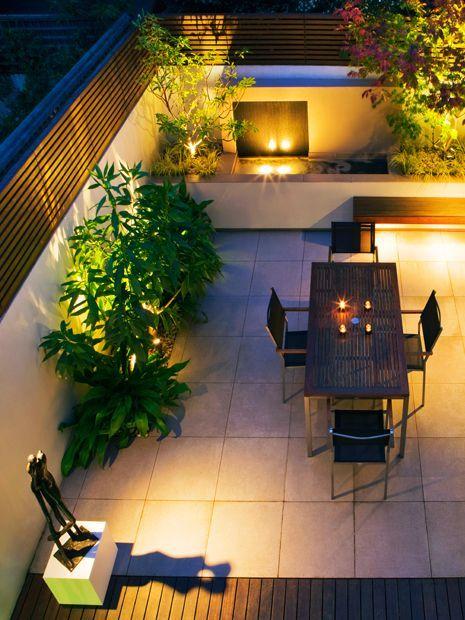 Garden Lighting Design Mylandscapes Garden Designs London In 2020 Garden Design London Garden Lighting Design Roof Garden Design