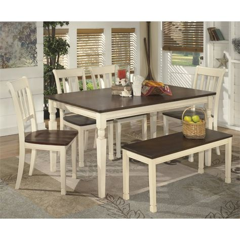 Ashley Furniture Whitesburg Dining Set 585 34 Dining Room Bench Dining Table In Kitchen Dining Room Sets