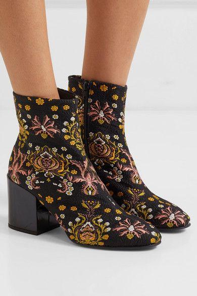 Shop Dries Van Noten Floral Boots