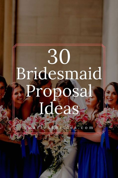 Get some inspiration with these awesome bridesmaid proposal ideas. You can either DIY or buy them cheap. These unique proposal gifts for your girlfriends will leave them jumping for joy. Make it creative and funny as possible to make it your own. If you like what you see be sure to save this pin to your Boards so you don't lose it! #ideas#DIY#cheap#unique#creative#gifts#SmartestBrides