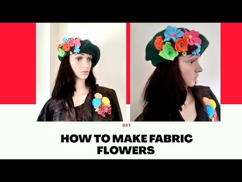 How to make fabric flowers:|DIY rosettes #fabricflowers#feltdesigns - YouTube