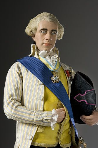 Portrait length color image of Count Hans Axel von Fersen aka. Hans Axel Count von Fersen the Younger, by George Stuart.