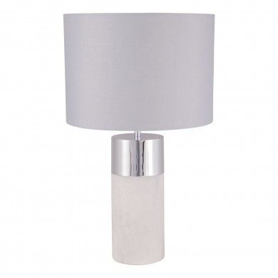 Concrete And Chrome Table Lamp Table Lamp Chrome Table Lamp Lamp