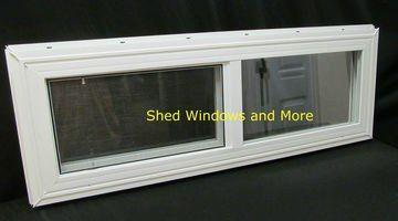 36 X 12 Double Pane Horizontal Sliding Vinyl Window Sliding Vinyl Windows Window Vinyl Shed Windows