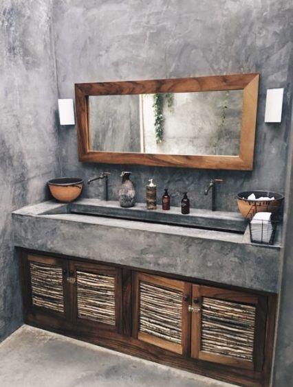 Wood Modern Rustic Bathroom Ideas