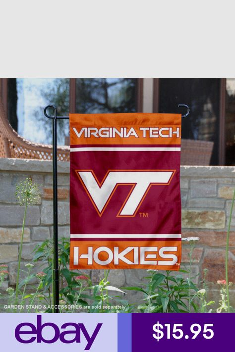 College Flags and Banners Co Virginia Tech Hokies Double Sided Flag