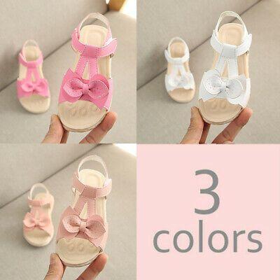 Suummer Sandals Childrens Toddler Girls Holiday Casual Flat Beach Pincess Shoes