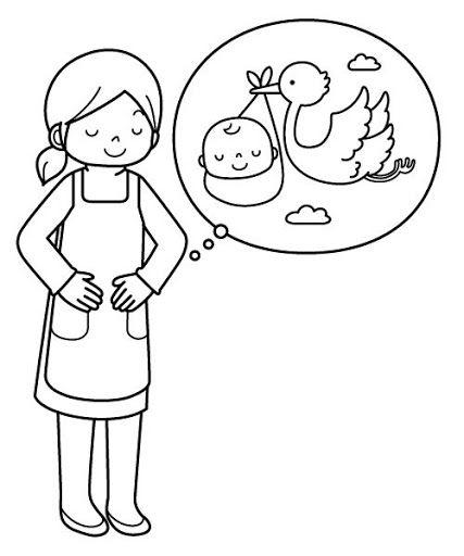 Dibujos Sobre El Embarazo Para Colorear Free Coloring Pages Coloring Pages Watercolor Illustration