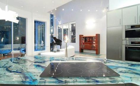 Glasarbeitsplatte Extravagant Hitzebestandig Und Leicht Zu
