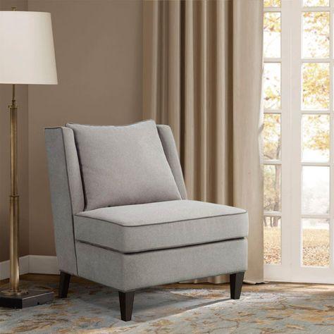 Madison Park Dexter Armless Shelter Chair Designer Living
