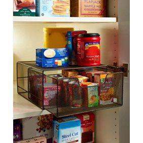 Pantry Can Organizer Walmart Com In 2020 Cabinet Organization Kitchen Remodel Kitchen Furniture