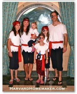 Homemade No Sew Pirate Costume for Kids {Pretend Play