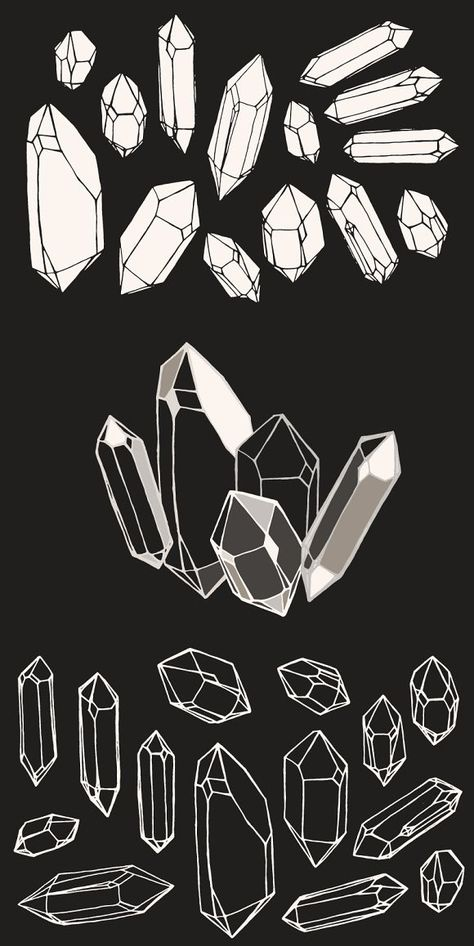 Crystal / Mineral / Gem Drawings #crystal #mineral Gem Drawing, Painting & Drawing, Art Tutorials, Drawing Tutorials, Line Art, Crystal Tattoo, Crystal Logo, Cristal Art, Crystal Drawing