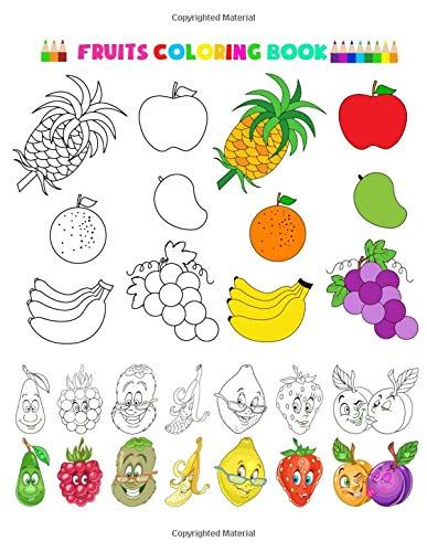 Fruits Coloring Book Fruits And Vegetables Baby Activity Https Www Amazon Com Dp 10 Fruit Coloring Pages Kindergarten Worksheets Printable Coloring Pages Fruits coloring pages for kindergarten