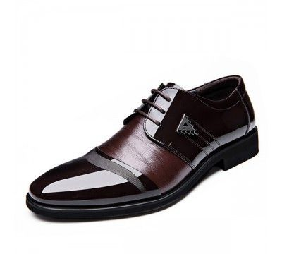 حذاء رجالي رسمي برباط للاغلاق وقصة مدببة من الامام Formal Shoes For Men Formal Shoes New Chic Shoes