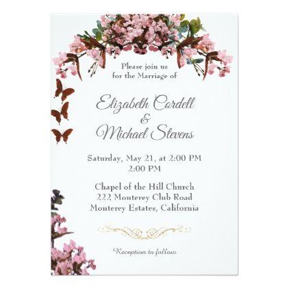 Customizable Wedding Invitation Small Flowers Wedding