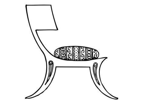 Pagina Para Colorir Cadeira Grega Paginas Para Colorir Colorir
